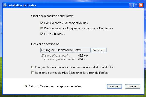 Désactivation mise à jour de Firefox